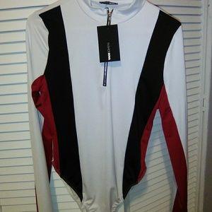 Zipper front body suit